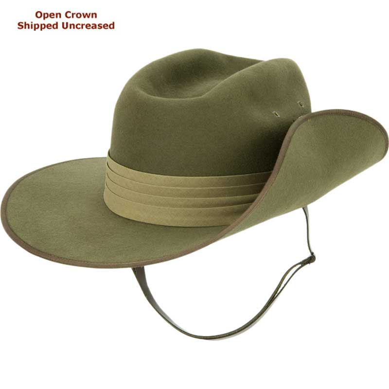 Aussie Slouch Hat by Akubra, shown with military bash
