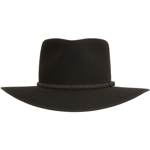 Cattleman Hat by Akubra, Dark Brown, Front View