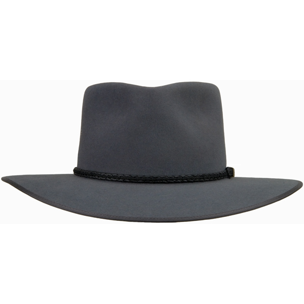 Cattleman Hat by Akubra, Medium Gray, Front View
