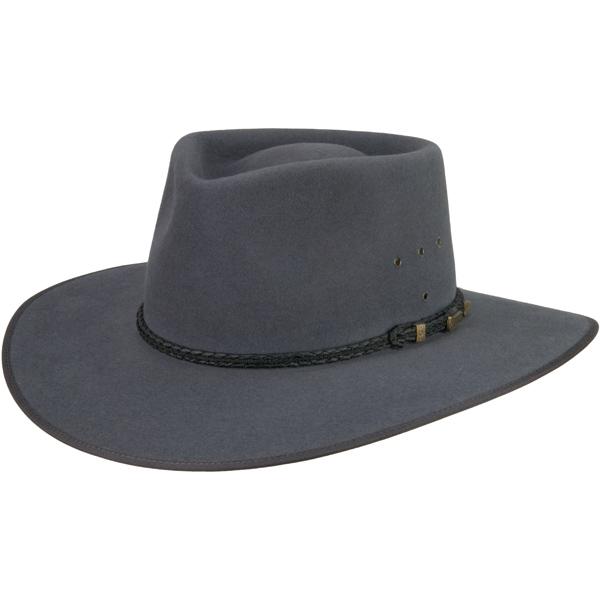 Cattleman Hat by Akubra, Medium Gray