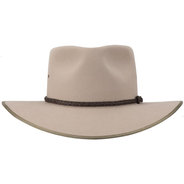 Cattleman Hat by Akubra, Sand, Front View
