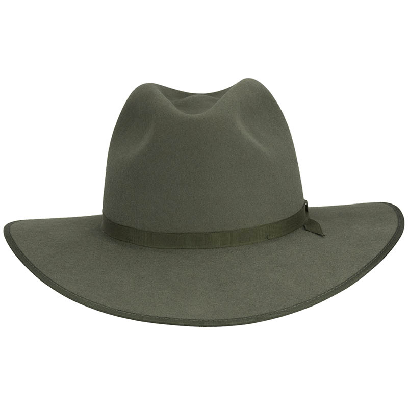 Coober Pedy Hat by Akubra, Moss Green, Front View