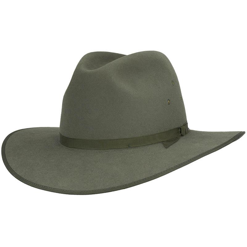 Coober Pedy Hat by Akubra, Moss Green