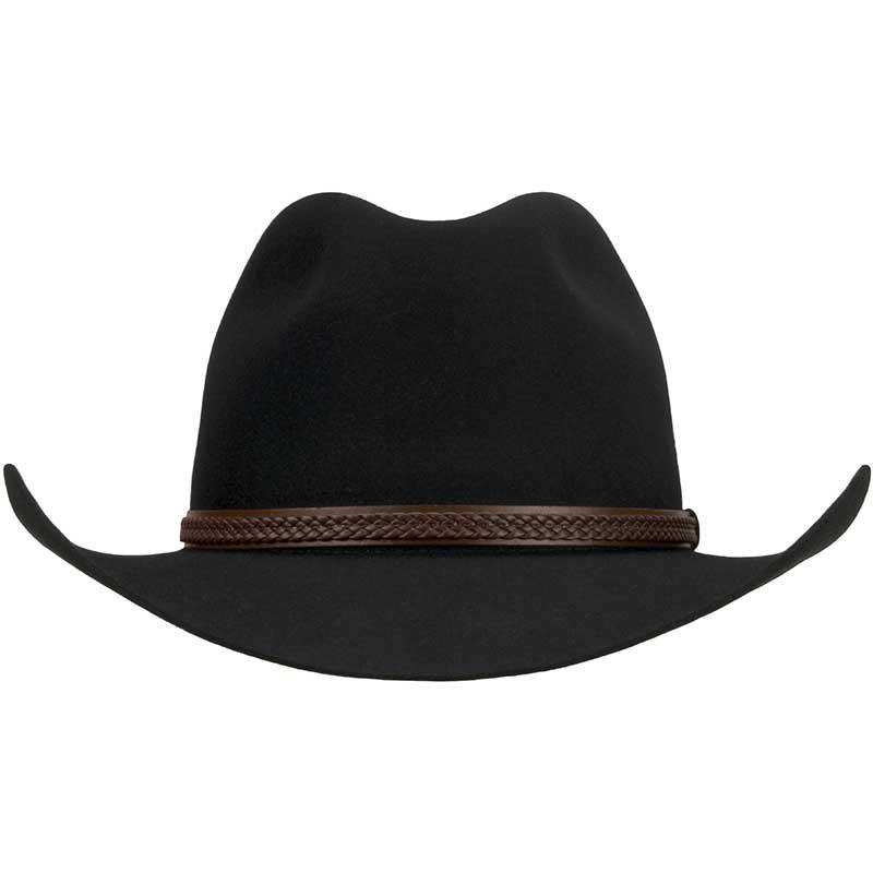 Kiandra Hat by Akubra, Black, Front View
