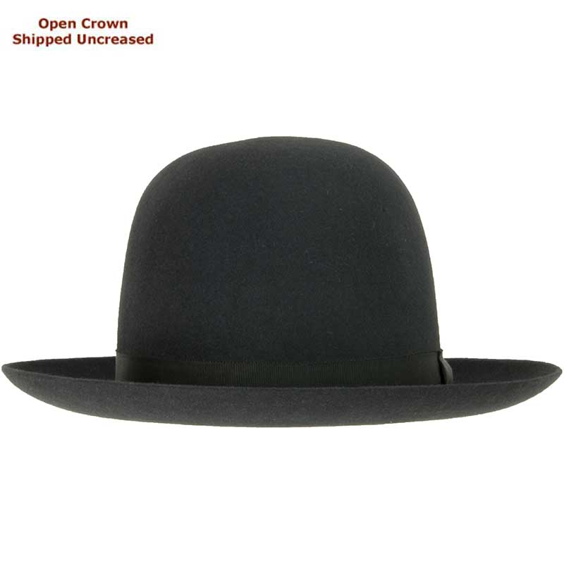 Sydney Hat by Akubra, Charcoal, Open Crown before bash/crease