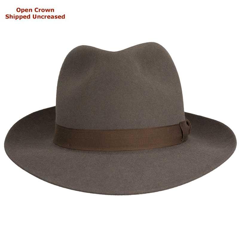 Sydney Hat by Akubra, Regency Fawn, shown with Fedora bash