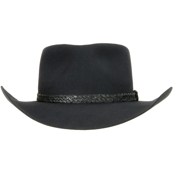 The Overlander Hat by Akubra, Charcoal, Front View
