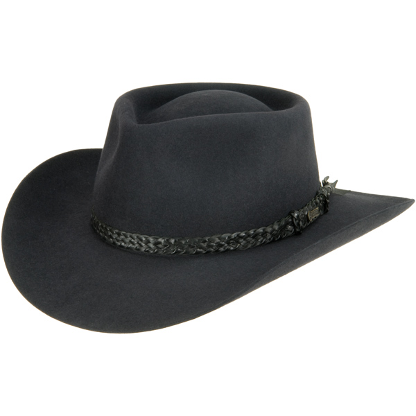The Overlander Hat by Akubra, Charcoal