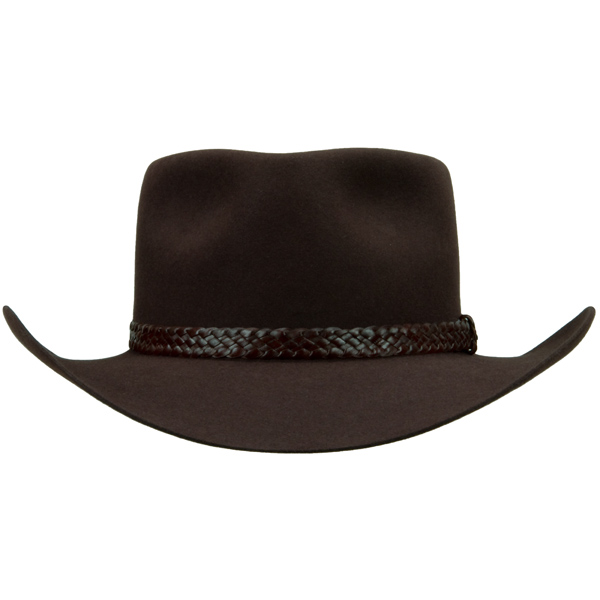The Overlander Hat by Akubra, Dark Fawn, Front View