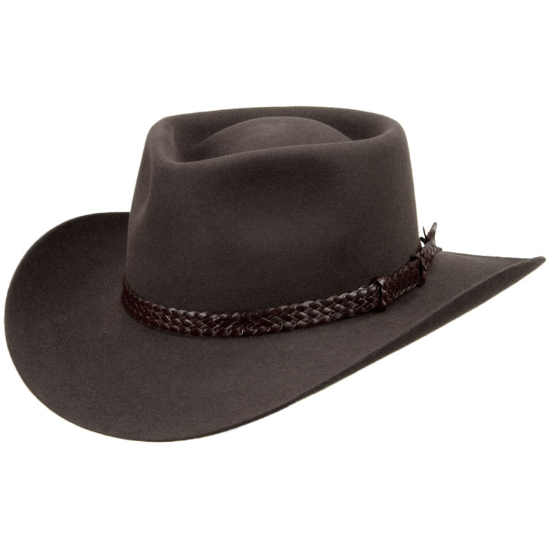 The Overlander Hat by Akubra, Dark Fawn
