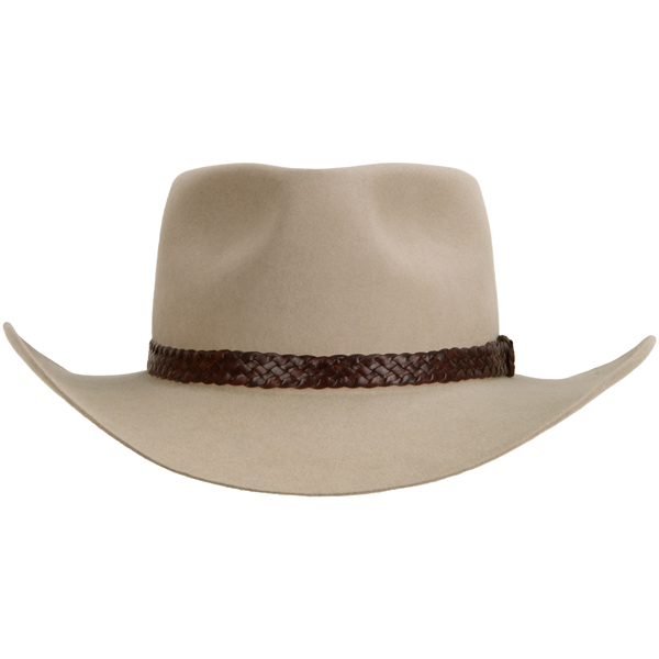 The Overlander Hat by Akubra, Sand, Front View