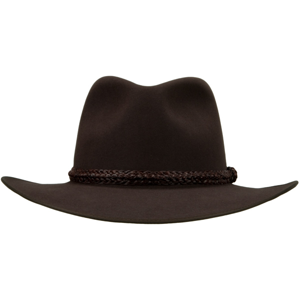 Lawson Hat by Akubra, Dark Fawn, Front View