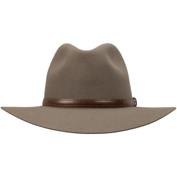 Lightning Ridge Hat by Akubra, Heritage Fawn, Front View