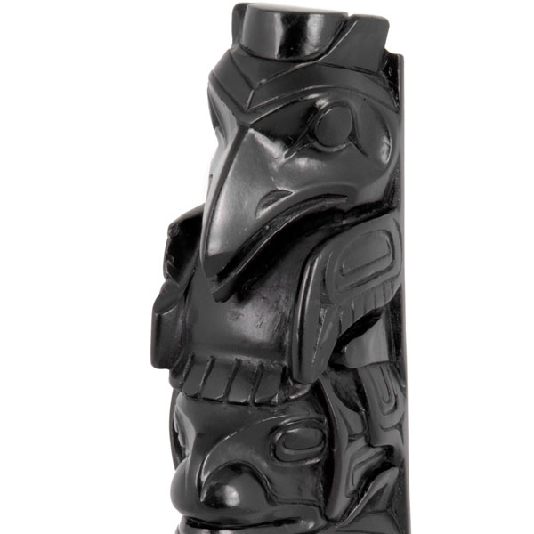 Raven Totem, Detail of Raven