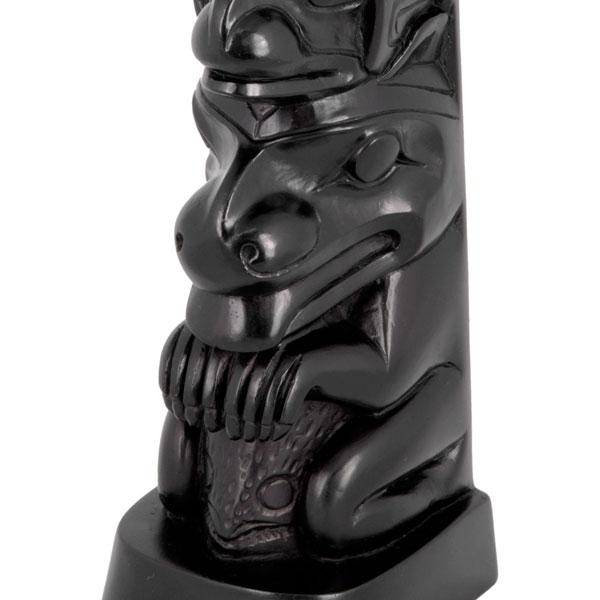 Raven Totem, Detail of Bear