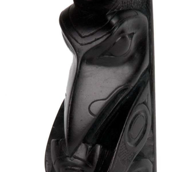 Bear-Raven Totem Pole, detail of bear