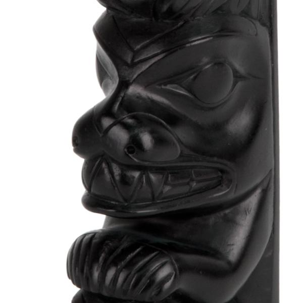 Bear-Raven Totem Pole, detail of raven