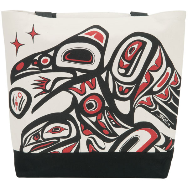 Raven Tote Bag : The Raven design is by Bill Helin.