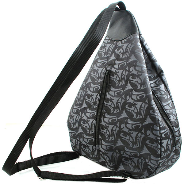 3 Eagles Knapsack: The smaller back compartment can be used as a security pocket for small items since the opening is hidden by the back when the knapsack is worn.