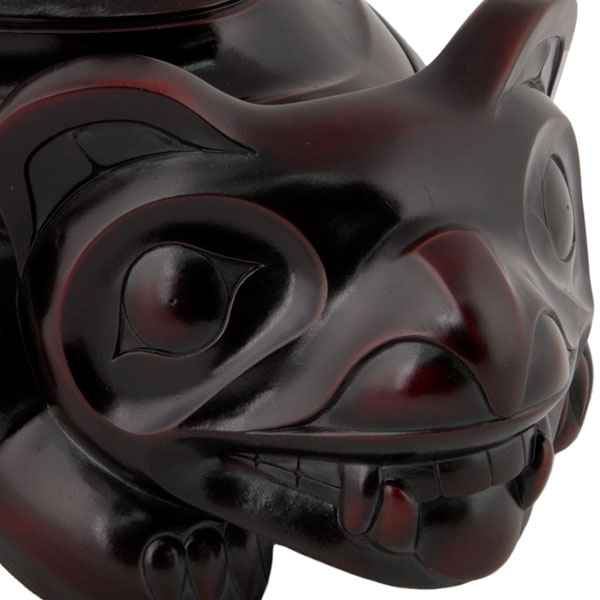 Bear and Frog Spirit Box, Detail of Bear