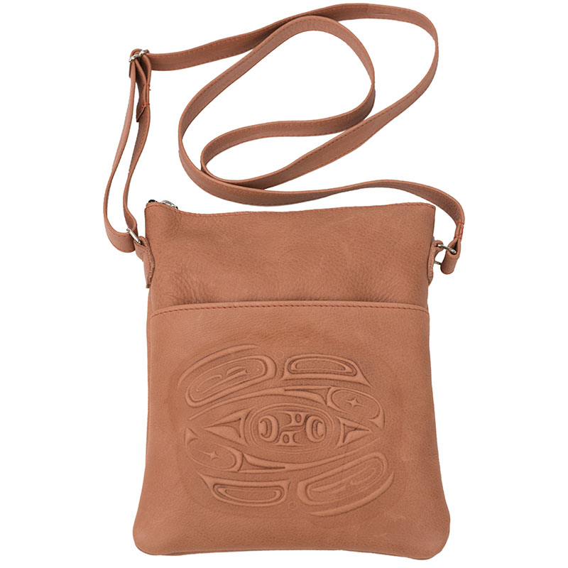 Leather Solo Bag, Brown