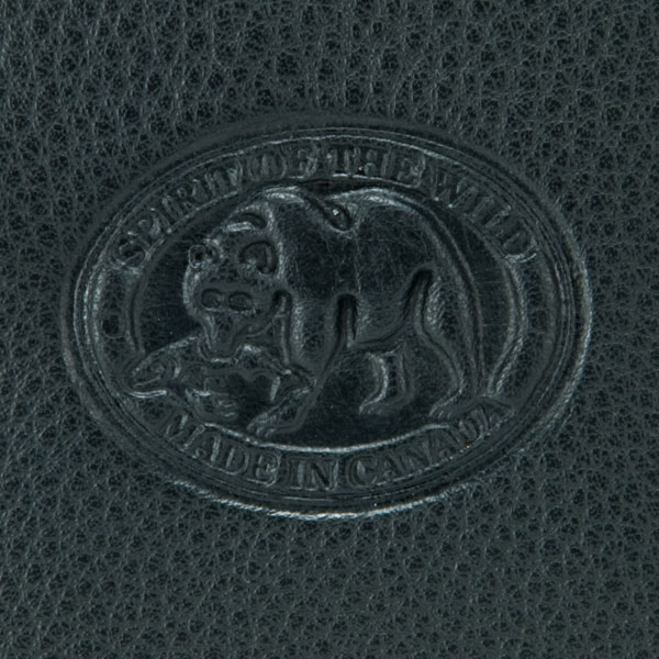 The Leather Passport Pouch is made in Canada.