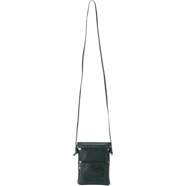 The non-adjustable leather strap is 49 inches long.