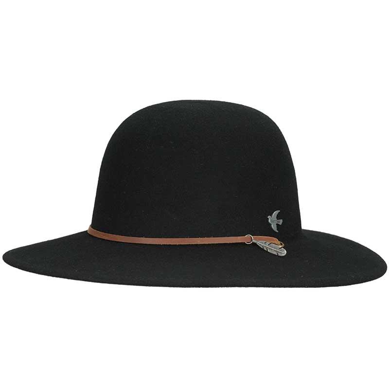 Bird & Feather Hat, Black