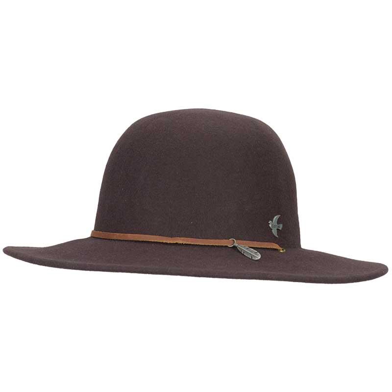 Bird & Feather Hat, Brown