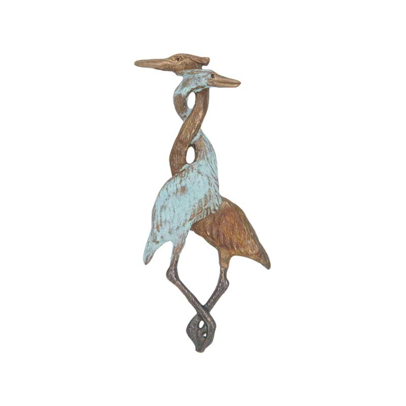 Herons Entwined Pin, Bronze
