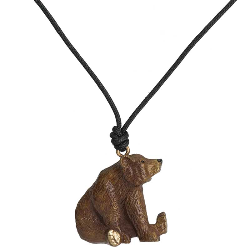 Sitting Grizzly Pendant