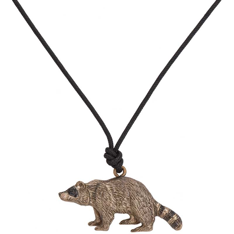 Raccoon Pendant, Bronze