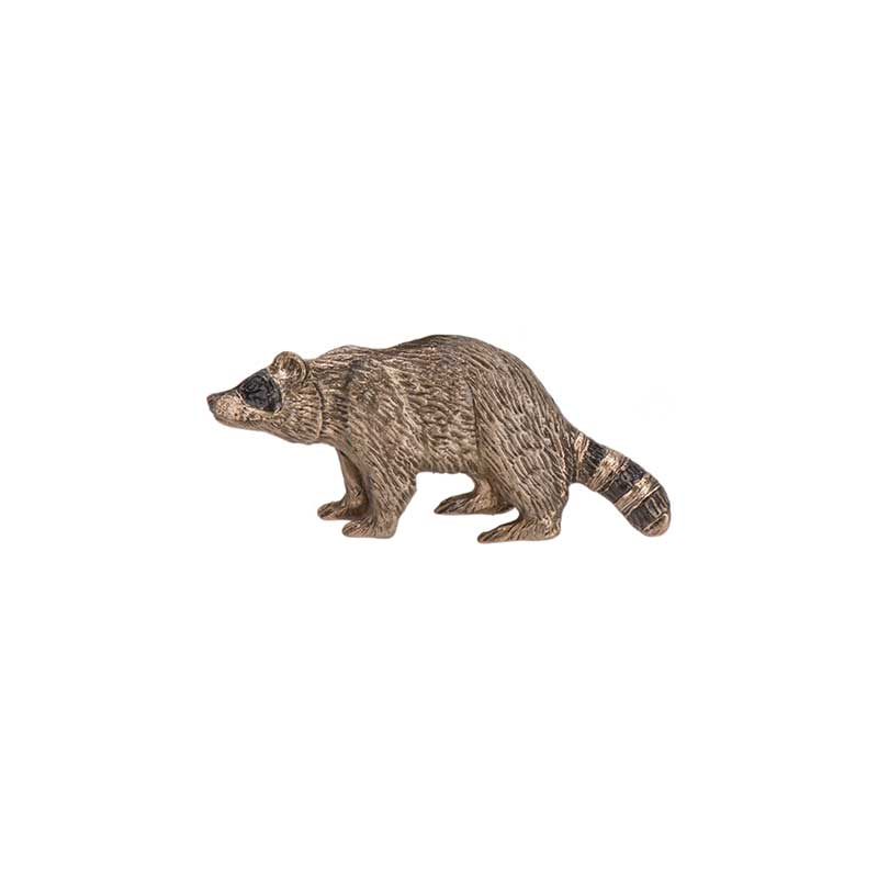 Raccoon Pin, Bronze