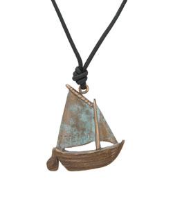 Gaff Rigged Sailboat Pendant