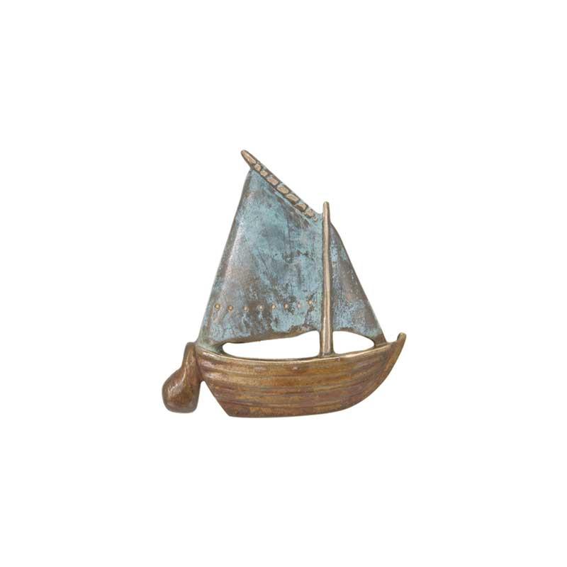 Gaff Rigged Sail Boat Pin, Bronze