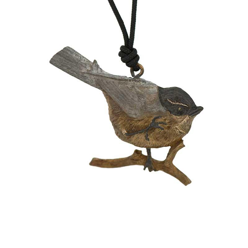 Chickadee Pendant, Bronze