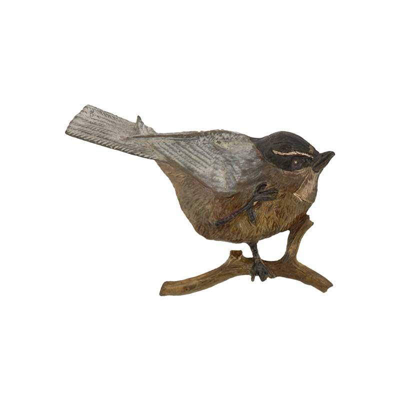 Chickadee Pin, Bronze