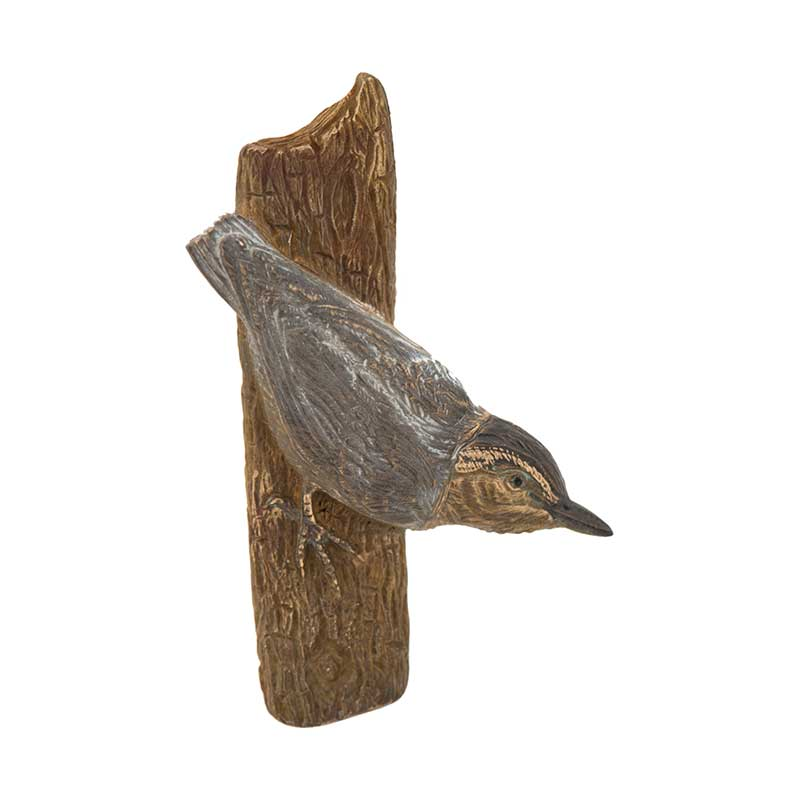 Nuthatch Pin, Bronze