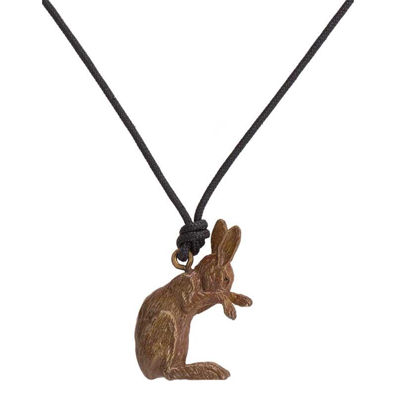 Rabbit Pendant, Bronze