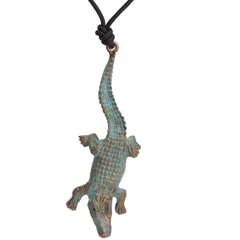 Alligator Pendant, Bronze