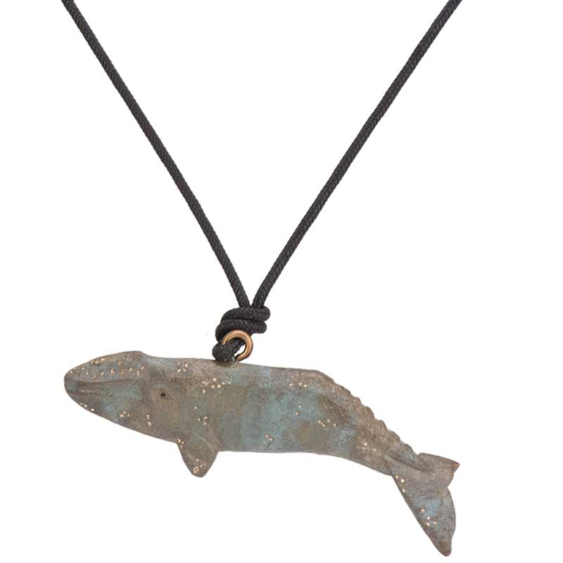 Gray Whale Pendant, Bronze