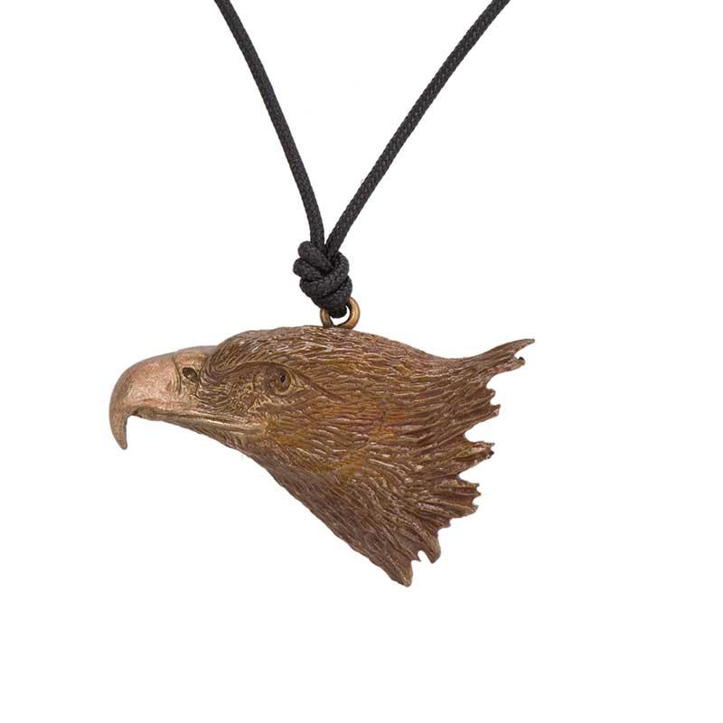 Golden Eagle Pendant, Bronze