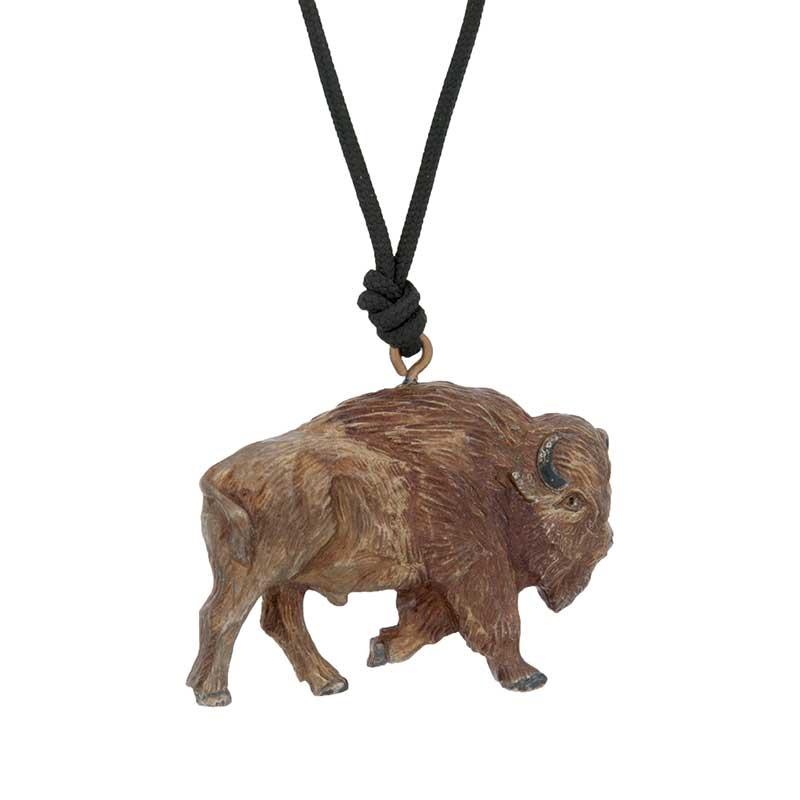 Buffalo Pendant, Bronze