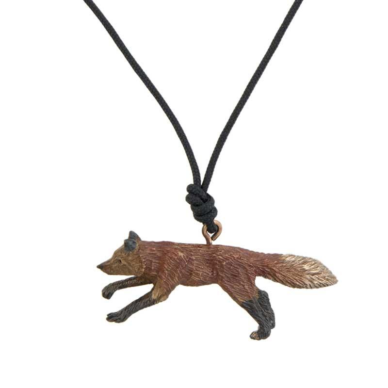 Fox Pendant, Bronze