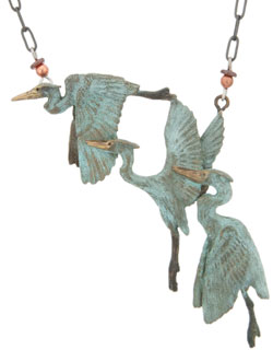 Three Herons Necklace