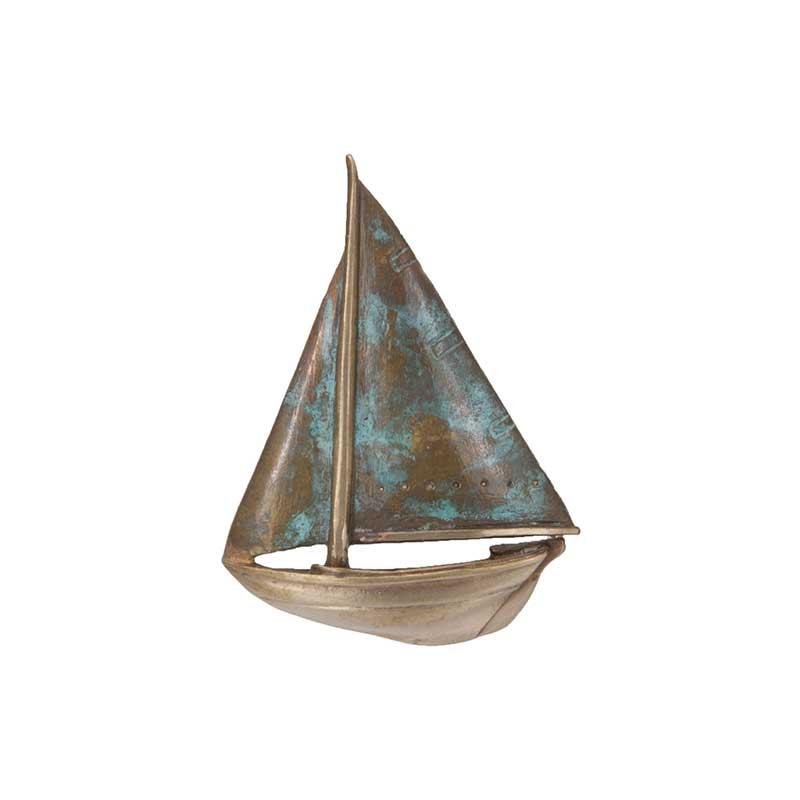 Buzzard's Bay Sailboat Pin, Bronze
