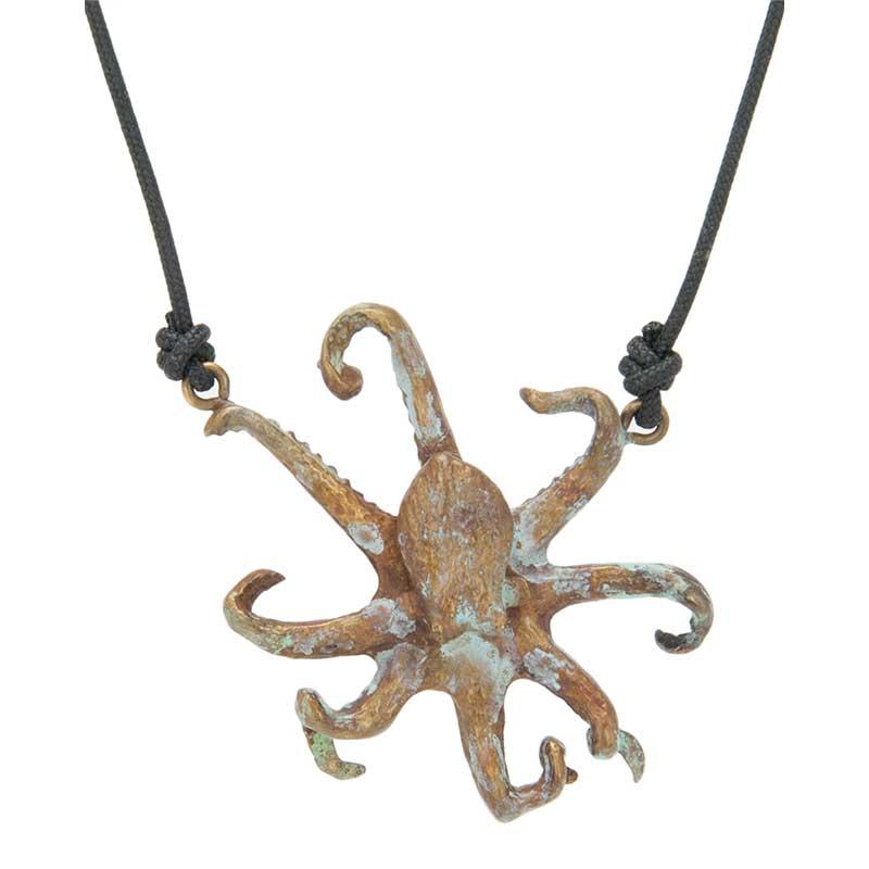 Octopus Pendant, Bronze