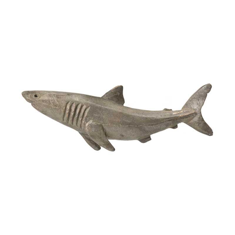 Great White Shark Pin, Bronze