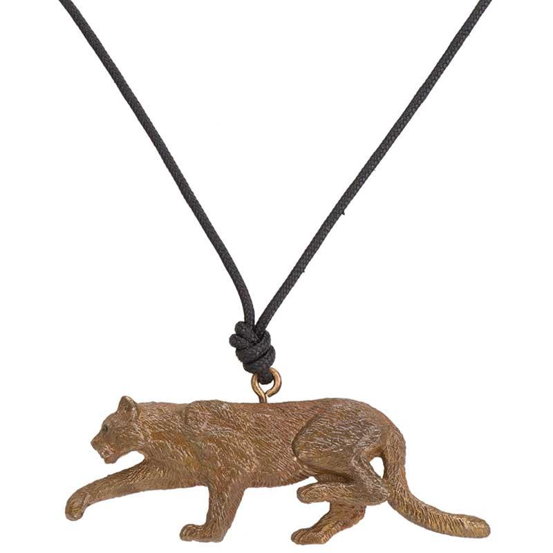 Mountain Lion Pendant, Bronze