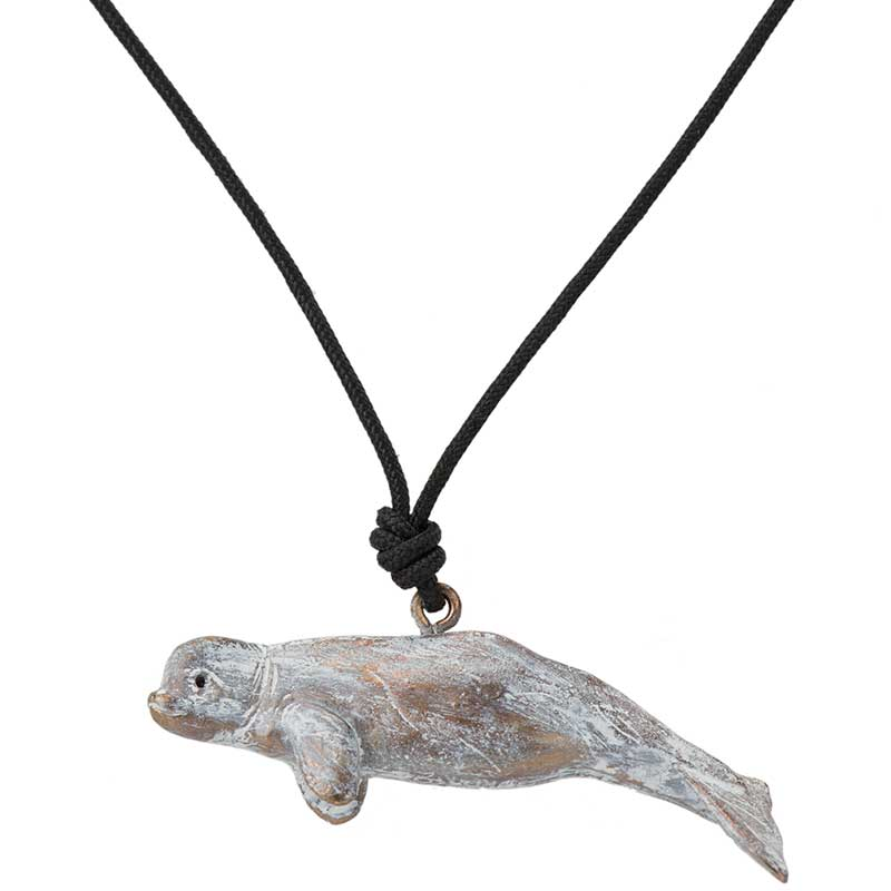 Beluga Whale Pendant, Bronze